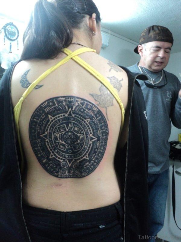 Black Aztec Tattoo
