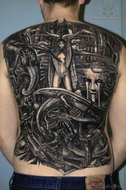 Black Biomechanical Tattoo