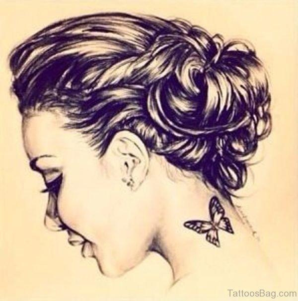 Black Butterfly Tattoo Design