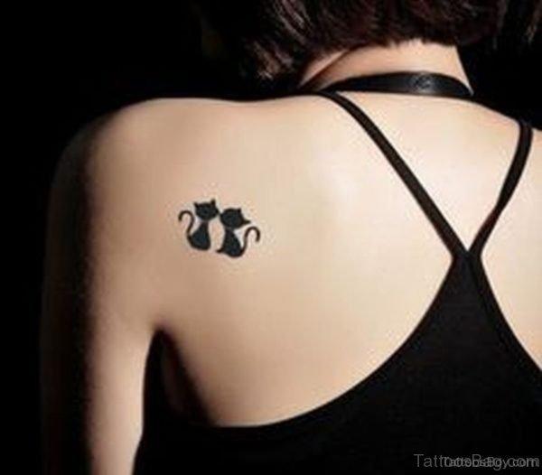 Black Cat Tattoo On Back