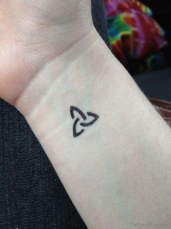 Black Celtic Tattoo On Wrist