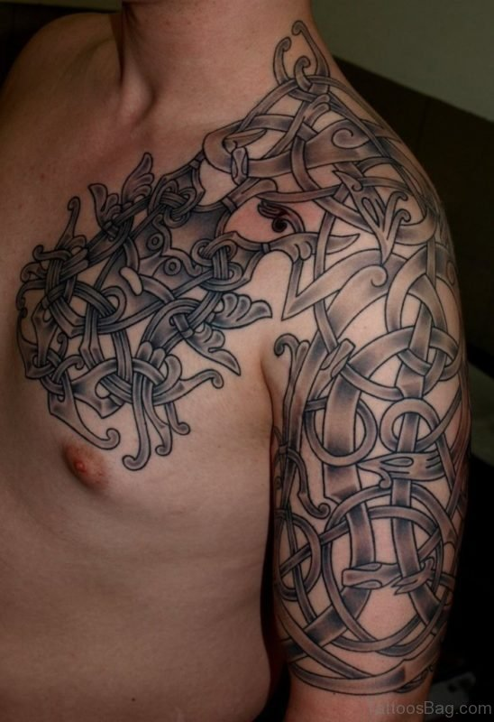 Black Celtic Viking Tattoo