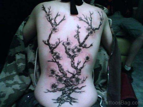 Black Cherry Blossom Tattoo