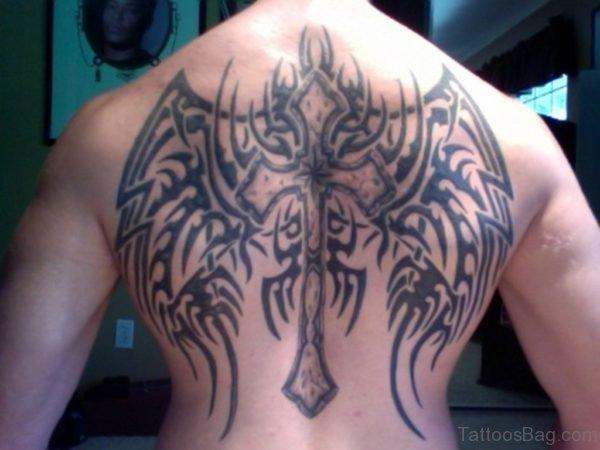 Black Cross Wings Tattoo 2-BT117TB117