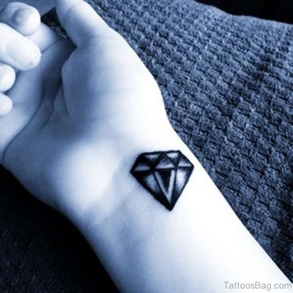 Black Diamond Tattoo On Wrist