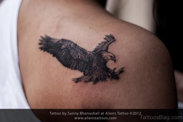 Black Eagle Tattoo Design