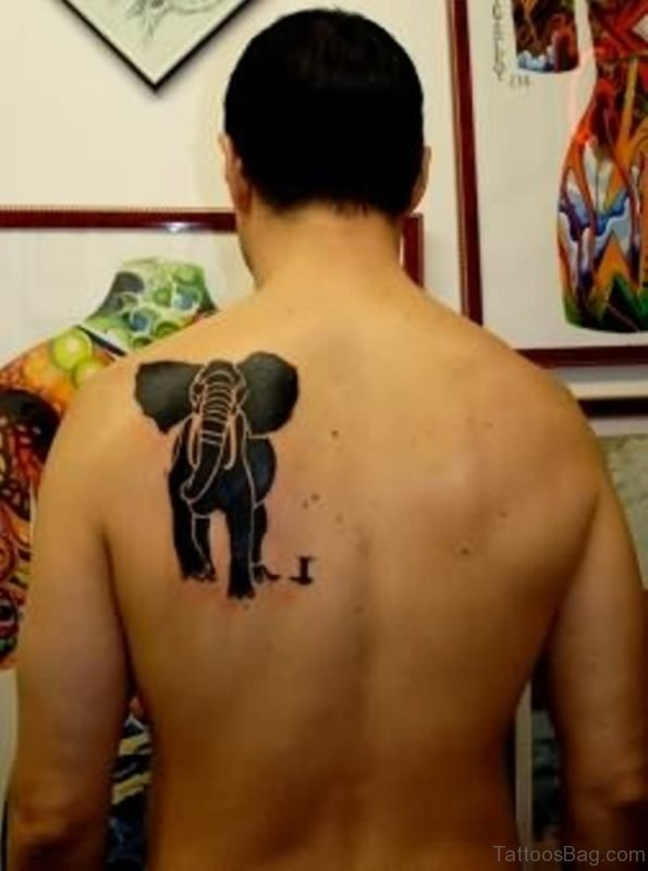 Black Elephant Tattoo