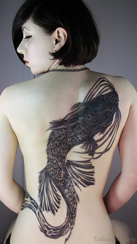 Black Fish Tattoo Design