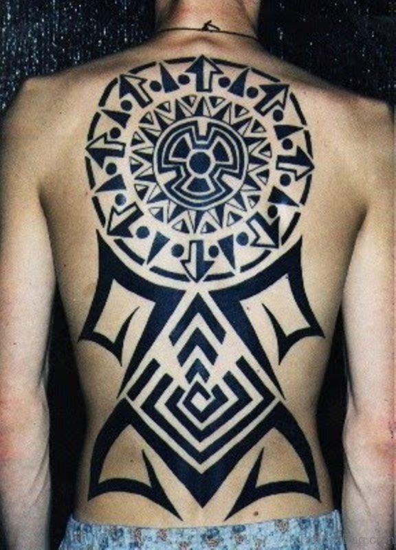 Black Geometric Tattoo