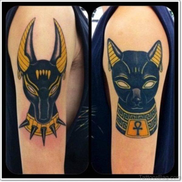 Black Ink  Anubis Egyptian Tattoo