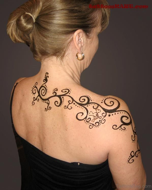 Black Ink Henna Tattoo