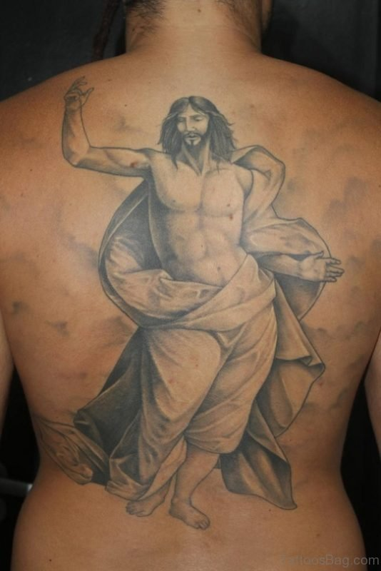 Black Ink Jesus Tattoo