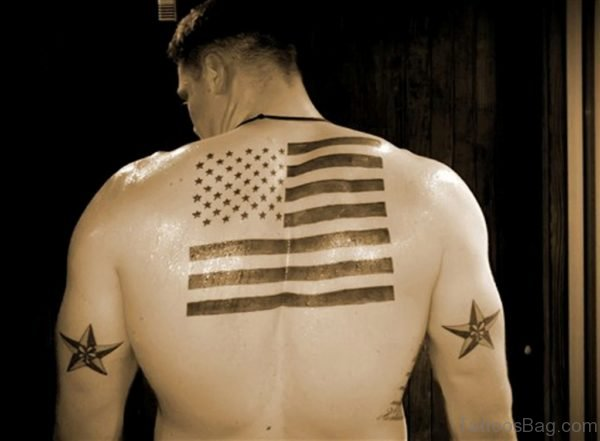 Black Ink Patriotic Tattoo