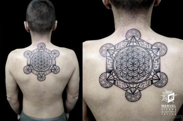 Black Inked Geometric Tattoo