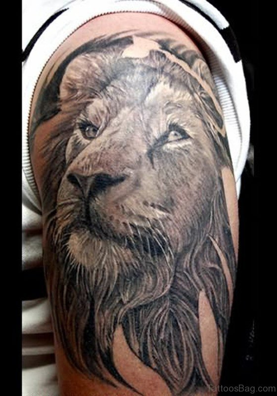 Black Lion Tattoo Design