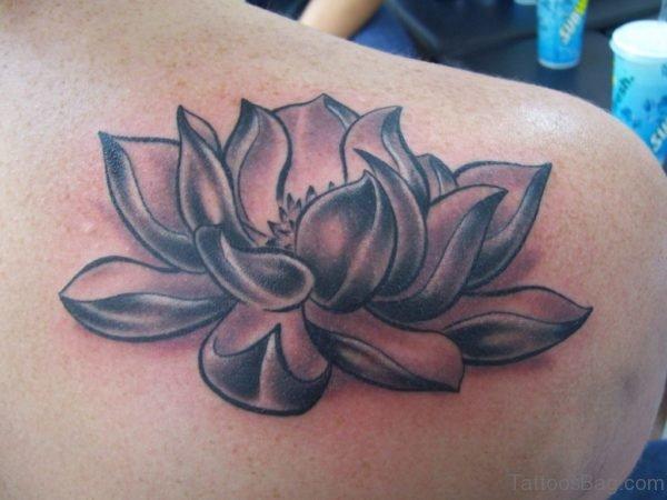Black Lotus Flower Tattoo