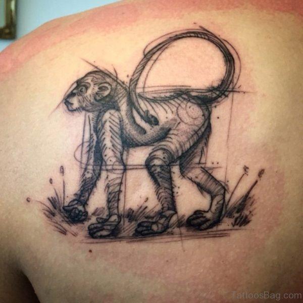 Black Monkey Tattoo Design