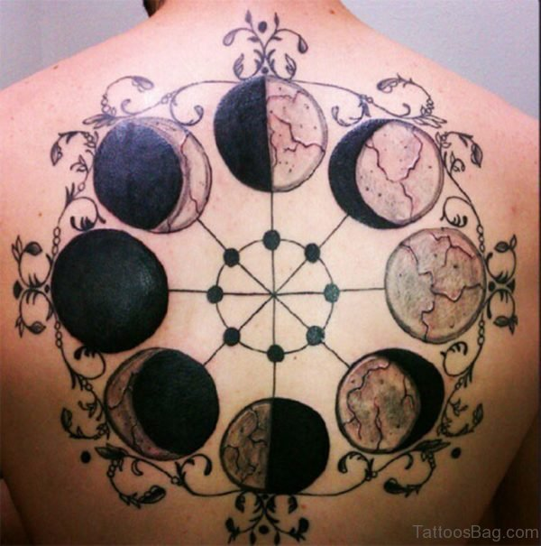 Black Moon Tattoo On Back