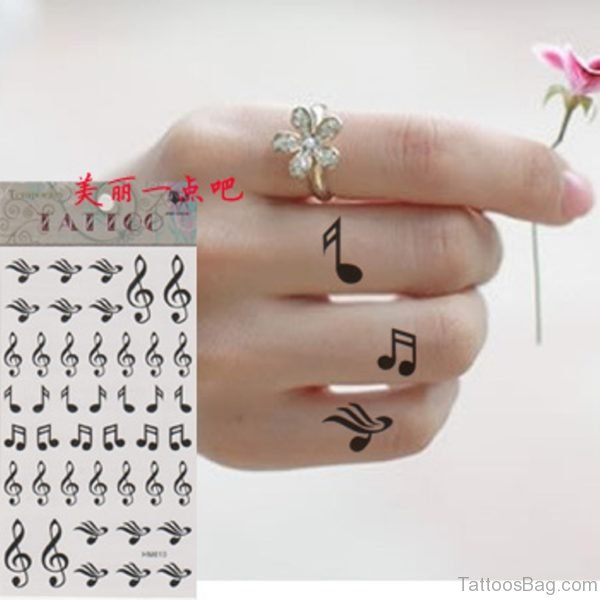 Black Music Words Tattoo