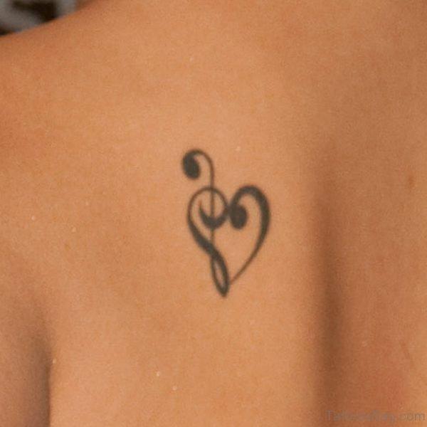 Black Musical Heart Tattoo