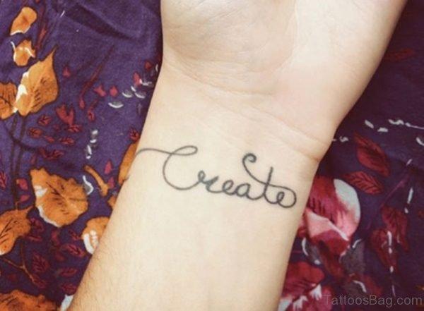 Black Name Tattoo On Wrist