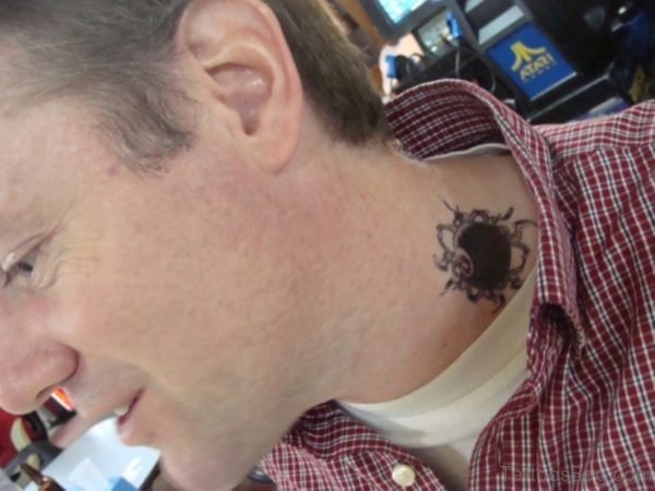 Black Neck Tattoo For Men