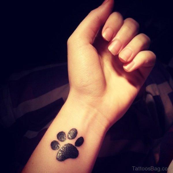 Black Paw Print Tattoo