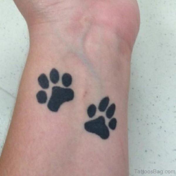 Black Paw Tattoo Design
