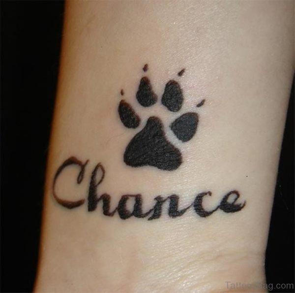 Black Paw Tattoo On Wrist