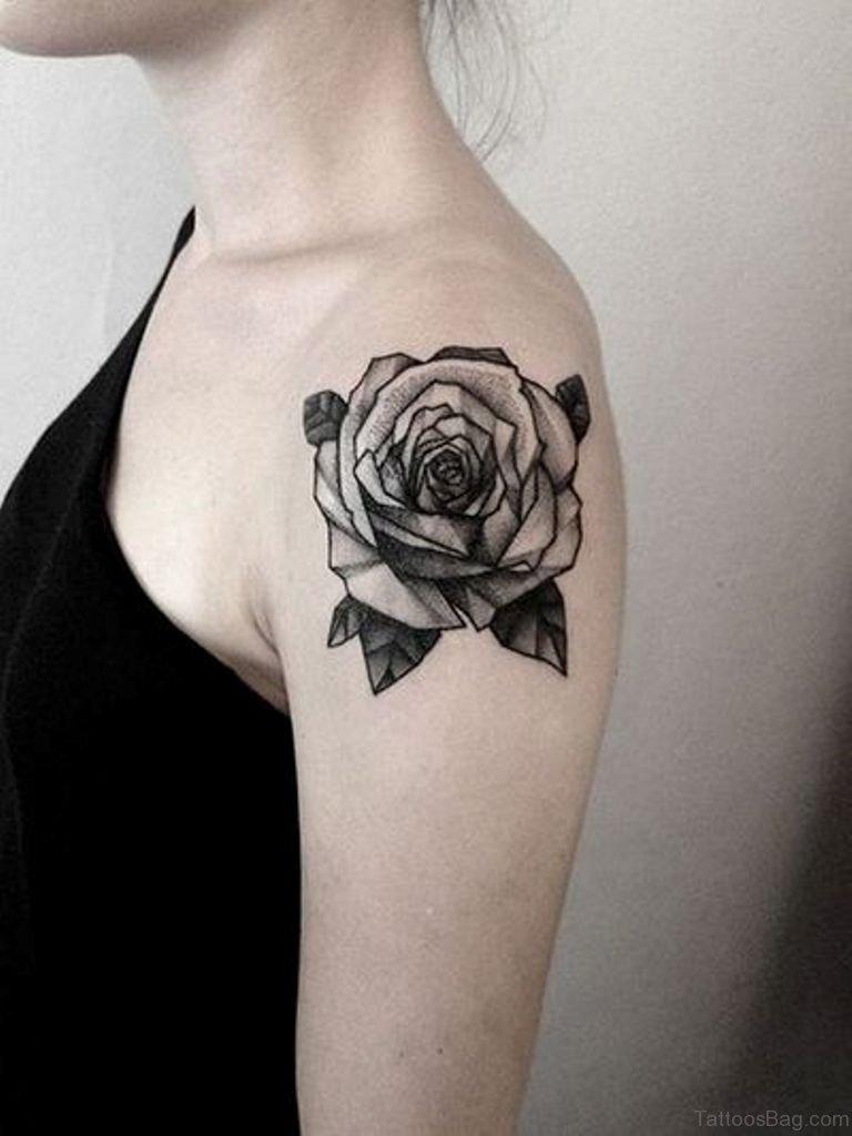 Black rose tattoo nude
