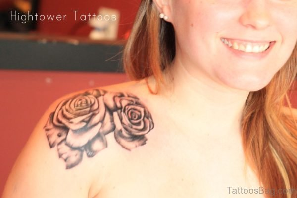 Black Rose Stylish Tattoo