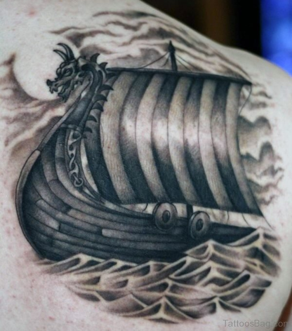 Black Ship Viking Tattoo