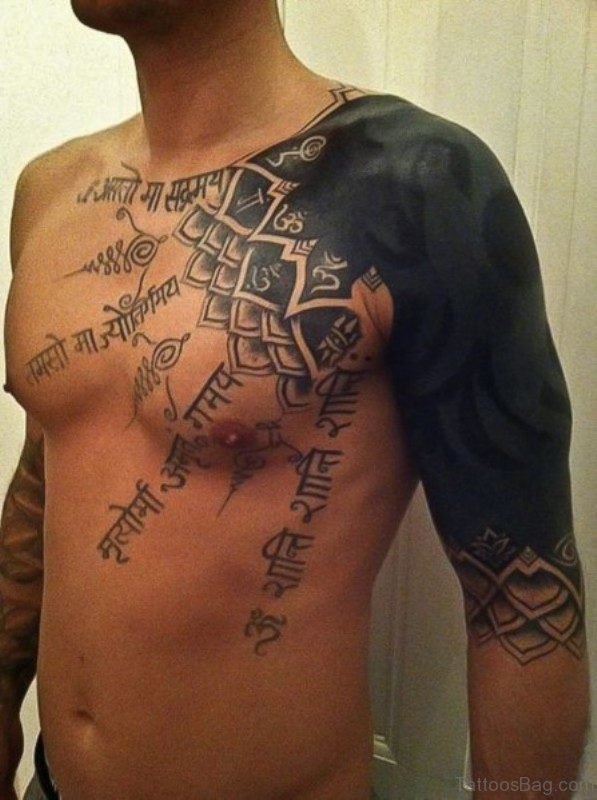 Black Shoulder Tattoo For Men
