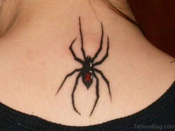 Black Spider Tattoo Design