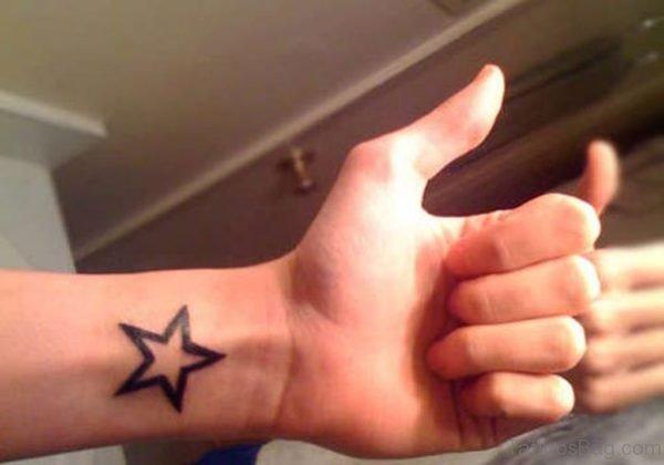 Black Star Tattoo Design