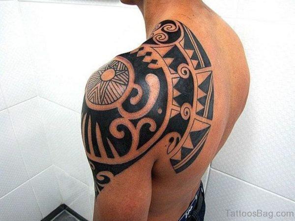Black Tribal Designer Tattoo