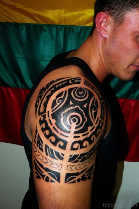 Black Tribal Tattoo Design