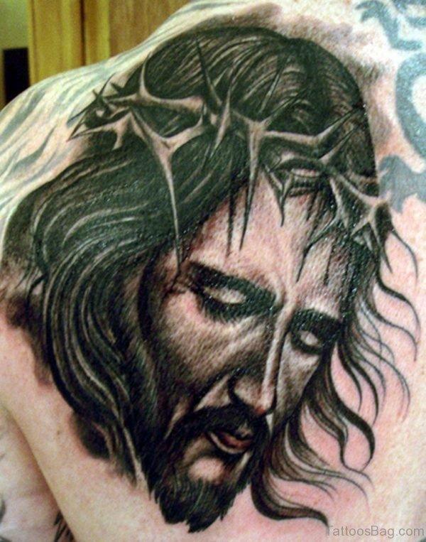 Black  jesus Face Tattoo