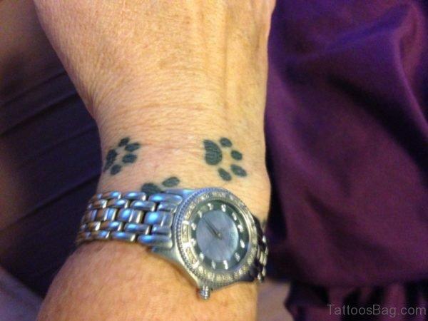 Black paw Tattoo