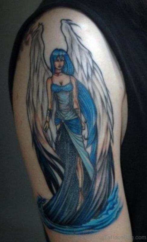Blue Angel Tattoo