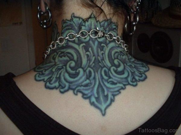Blue Designer Tattoo For Women
