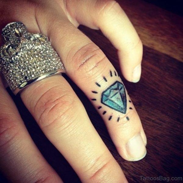 Blue Diamond Tattoo