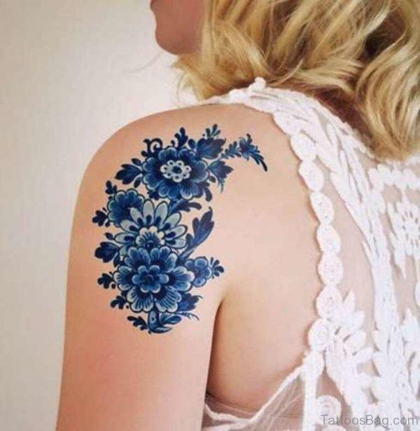 Blue Flowers Tattoo