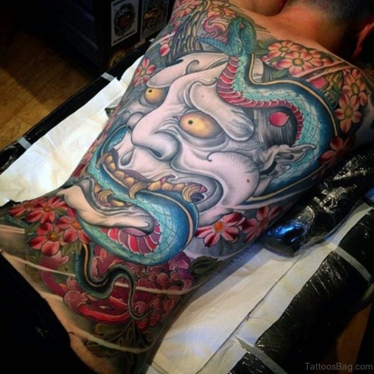 Blue Snake Tattoo