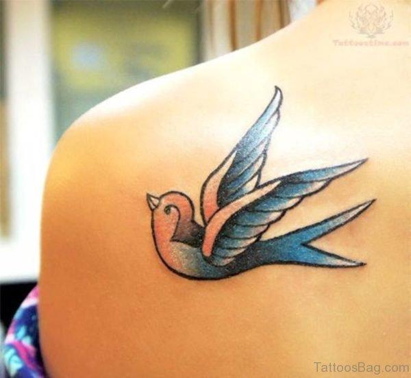 Blue Swallow Tattoo