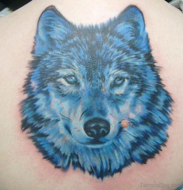 Blue Wolf Tattoo