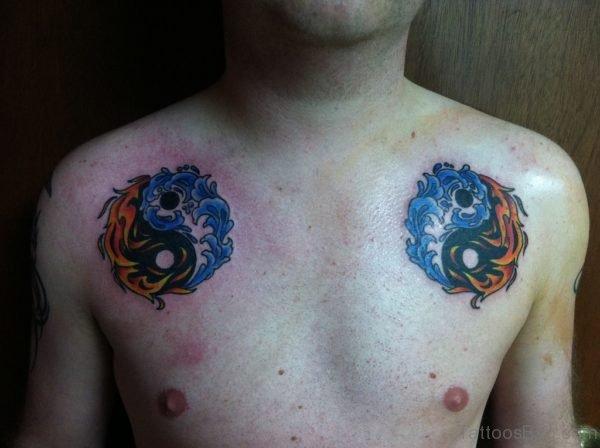 Blue Yin Yang Tattoo Design