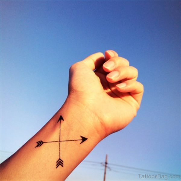 Both Sides Arrows Tattoo