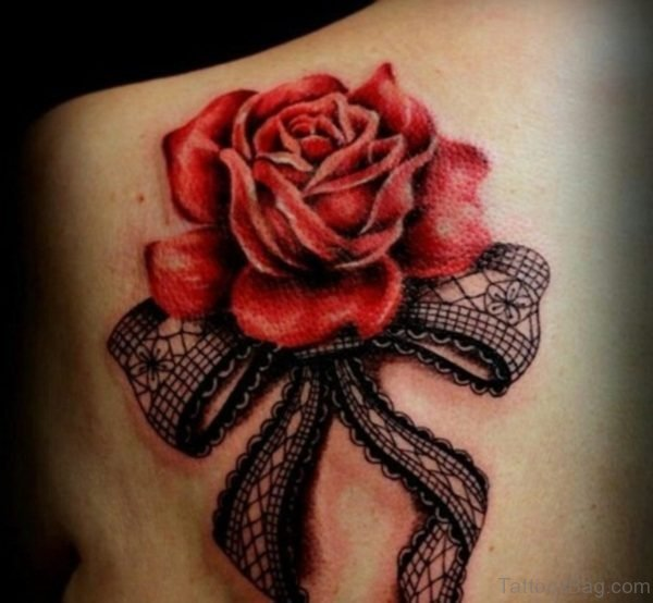 Bow And Rose Tattoo