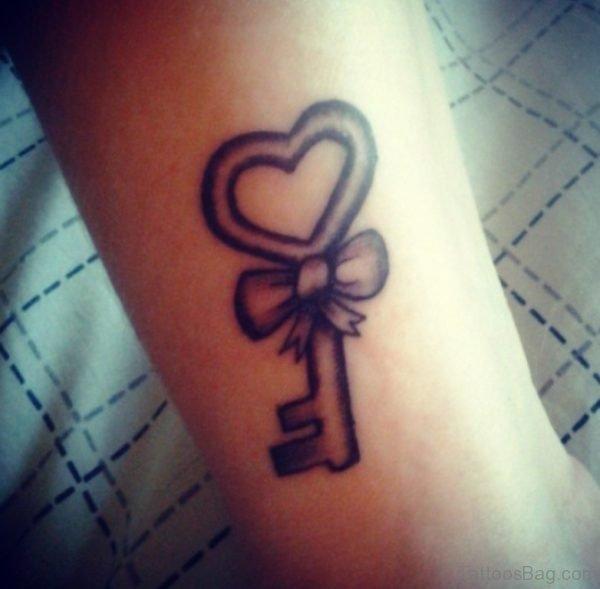 Bow Key Tattoo